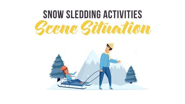 Thumbnail for Actividades de trineo de nieve - Situación de la escena