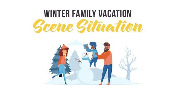 Thumbnail for Vacaciones familiares de invierno - Situación de escena