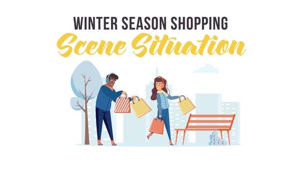 Thumbnail for Winter season shopping - Scene Situation