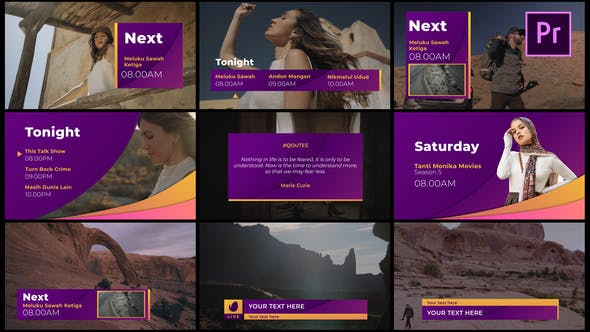 Gradient Broadcast Package - Essential Graphics