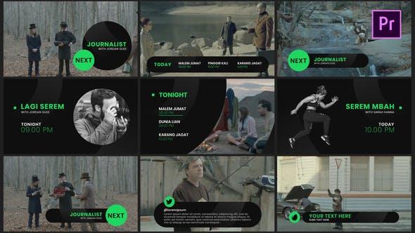 Dark Broadcast Package Essential Graphics