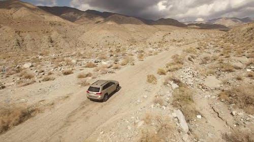 SUV in the desert