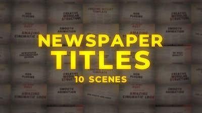 Newspaper Titles - MOGRT
