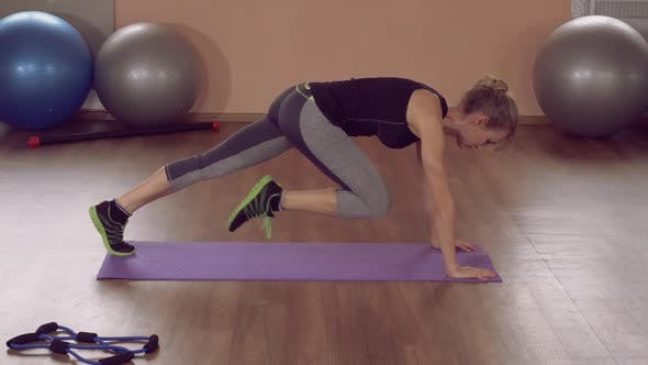 Thumbnail for Girl Doing Physical Exercises Strong Abs