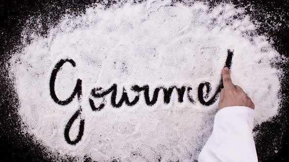 Thumbnail for Salt Writing on Black Surface  Gourmet