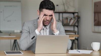 Headache, Frustrated  Businessman