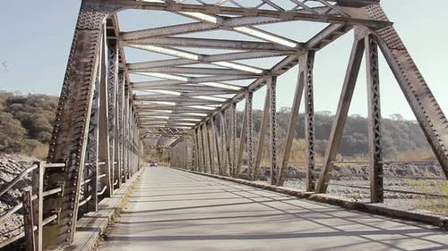 Old Riveted Iron Bridge in Jujuy province, Argentina.