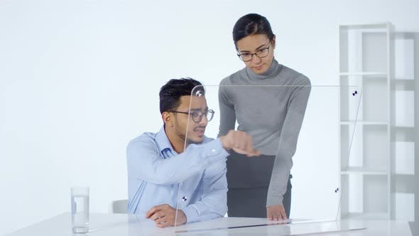 Thumbnail for Two Colleagues Using Invisible Multi-touch Screen