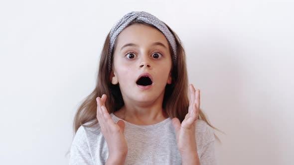 Shocked Kid Fear Horror Astounded Terrified Girl