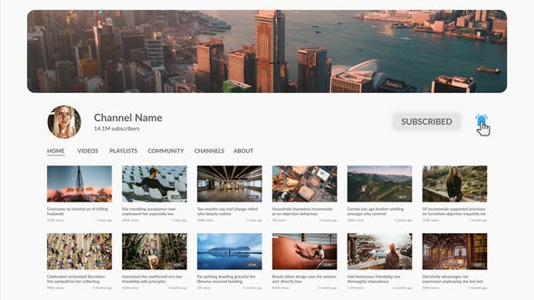 Thumbnail for Recherche YouTube Intro - Premiere Pro