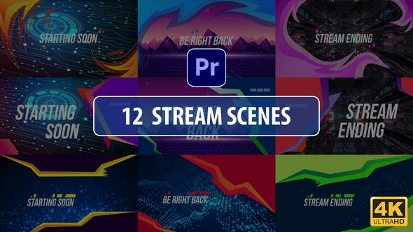 Thumbnail for Stream Scenes | Premiere Pro MOGRT