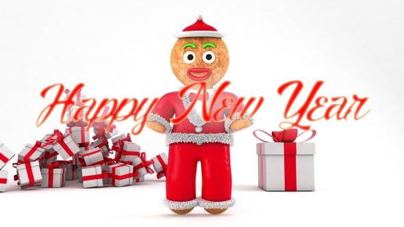 Thumbnail for Feliz Año Nuevo con Títulos de Pan de Jengibre