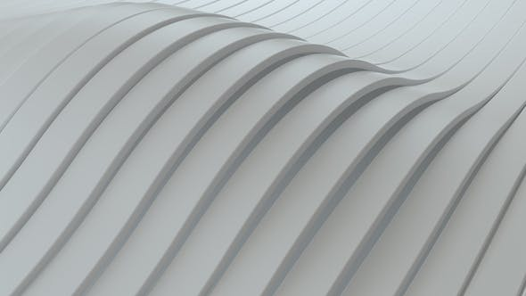 Thumbnail for Abstract background with white wavy stripes