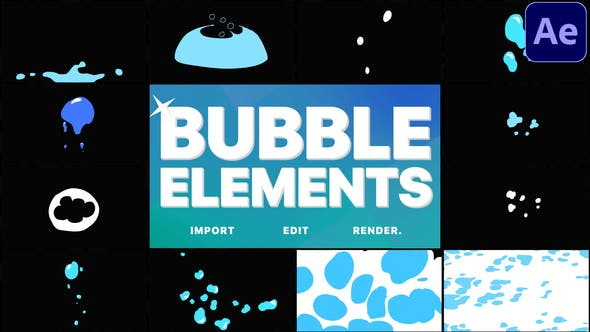 Thumbnail for Bubble Elements   After Effects