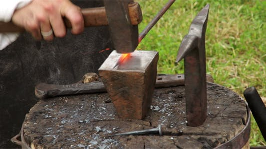 Thumbnail for Blacksmith At Work In The Smithy 1
