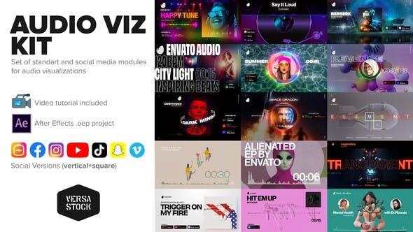 Audio Visualization Social Media Kit