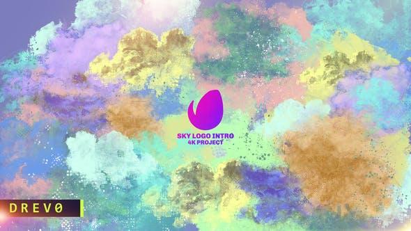Thumbnail for Sky Logo Intro/ Enfants Joyeux Anniversaire Ouvert/Youtube Enfants Show/Dessin animé Education/ Nuages/Air