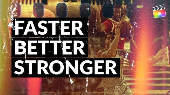 Thumbnail for Faster Better Stronger | For Final Cut & Apple Motion
