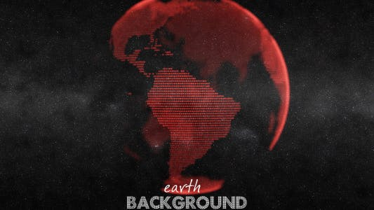 Thumbnail for Earth Globe Animation - Red