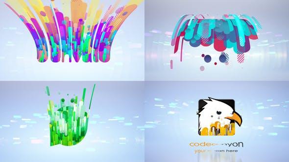 Clean Flying 3D Logo Opener