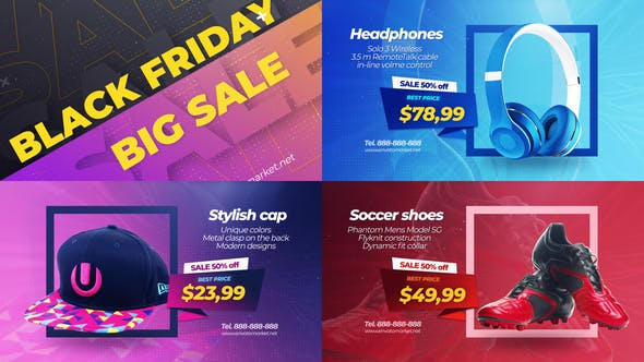 Thumbnail for Black Friday Sale Promo Slideshow