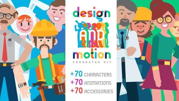 Thumbnail for Kit de personnages design et mouvement