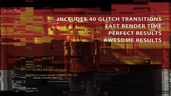 TV noise & Glitch Transitions