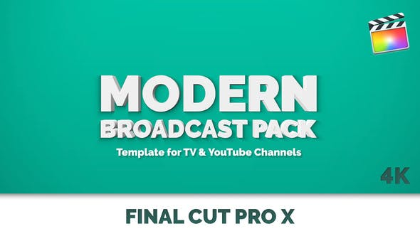 Thumbnail for Modernes Broadcast-Paket — Final Cut Pro & Apple Motion