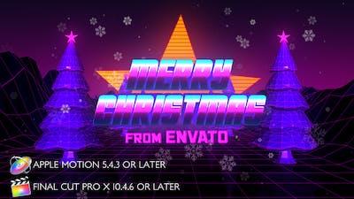 Retro 80s Christmas Wishes - Apple Motion
