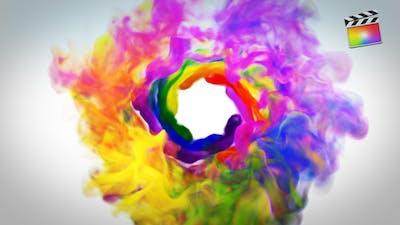 Colorful Smoke Logo Reveal - FCP