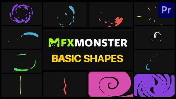 Thumbnail for Basic Shapes Pack | Premiere Pro MOGRT