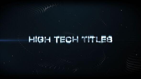 Thumbnail for High Tech Titles & Logo