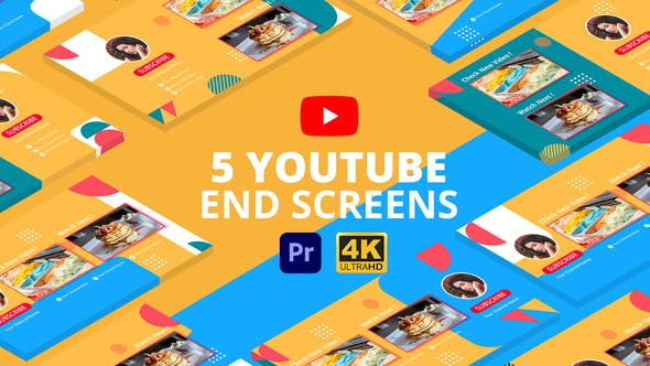 Thumbnail for YouTube End Screens Vol.3 | Premiere Pro MOGRT