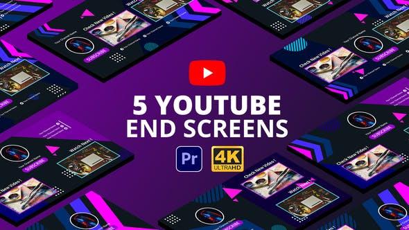 YouTube End Screens Vol.4 | Premiere Pro MOGRT