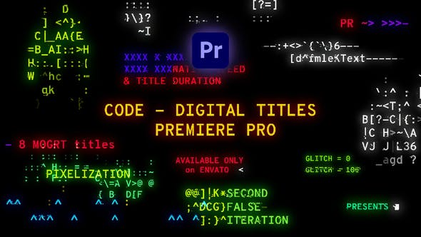 Thumbnail for Code - Digital Titles | Premiere Pro