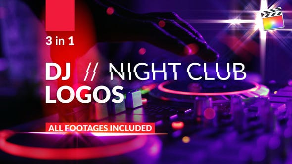 Thumbnail for DJ//Logos du club de nuit | Pour Final Cut & Apple Motion