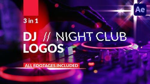 DJ // Night Club Logos