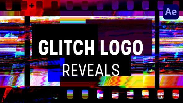 Glitch Logo Reveals