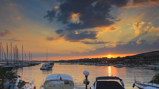Thumbnail for Beautiful Sunset Over The Yacht Marina