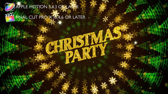 Thumbnail for Christmas Party Invitation - Apple Motion