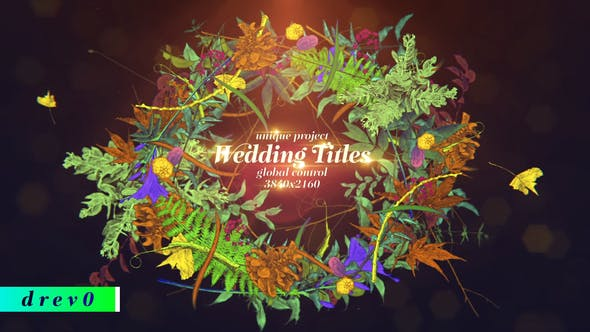 Thumbnail for Wedding Titles/ Hand Draw/ Love Story/ Vintage Typography/ Merry Christmas/ Plants/ Flowers/ Wreath