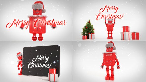 Thumbnail for Merry Christmas Titles With Robot Roby