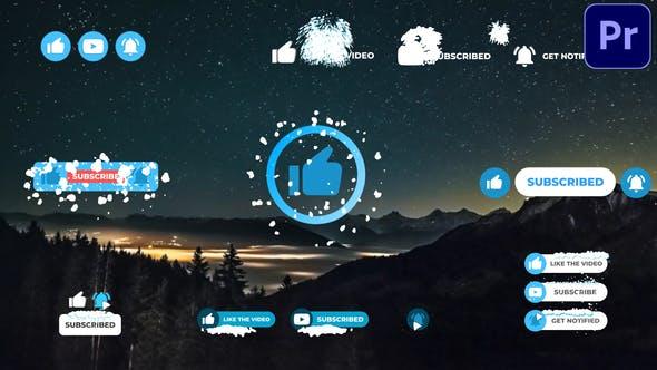 Thumbnail for Abonnés aux médias sociaux | Premiere Pro MOGRT