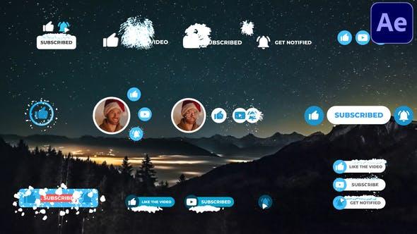Thumbnail for Abonnés aux médias sociaux Snow | After Effects