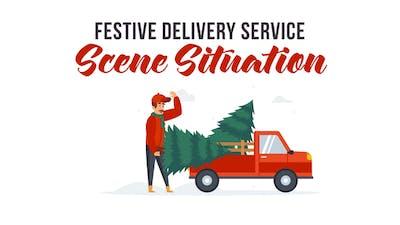 Festive delivery service - Explainer Elements