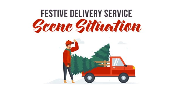 Thumbnail for Festive delivery service - Explainer Elements
