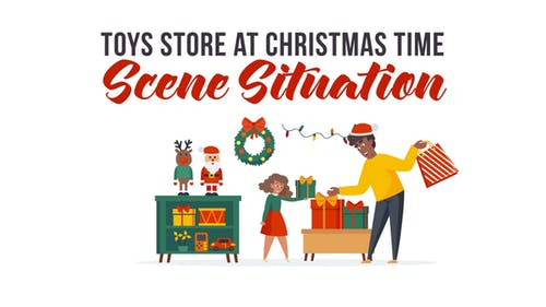 Toys store at Christmas time - Explainer Elements