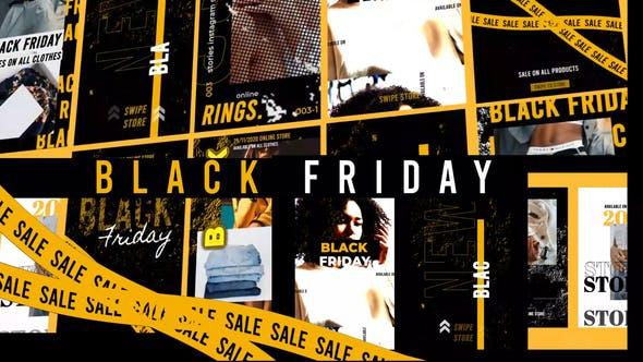 Thumbnail for Black Friday Histoires Instagram Or