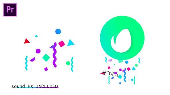Buntes geometrisches Logo | Für Premiere Pro