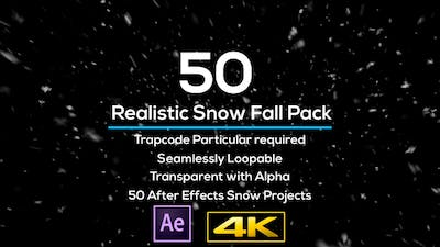50 Realistic Snow Falls Projects Pack